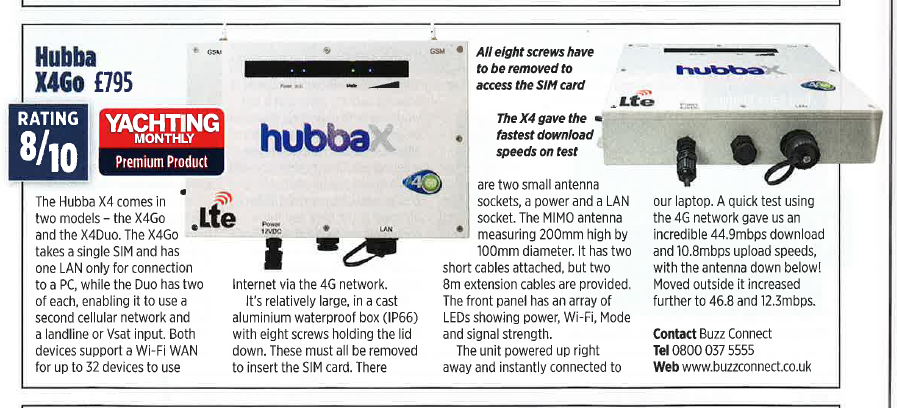 Hubba X4Go Review in Yachting Monthly